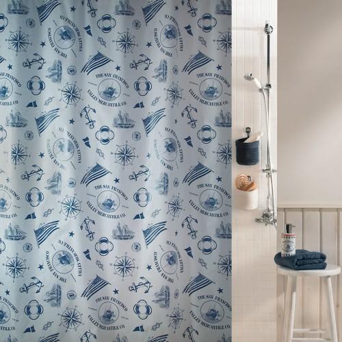 Spirella Plastik Duschvorhang Watermill 180x200 cm