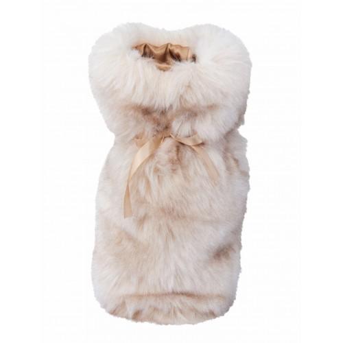 Winter Home Fellimitat Geschenk-Beutel Sandwolf 30cm