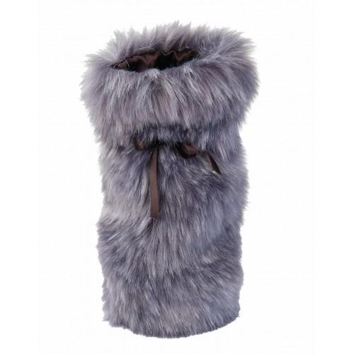 Winter Home Fellimitat Geschenk-Beutel Purplewolf 30cm