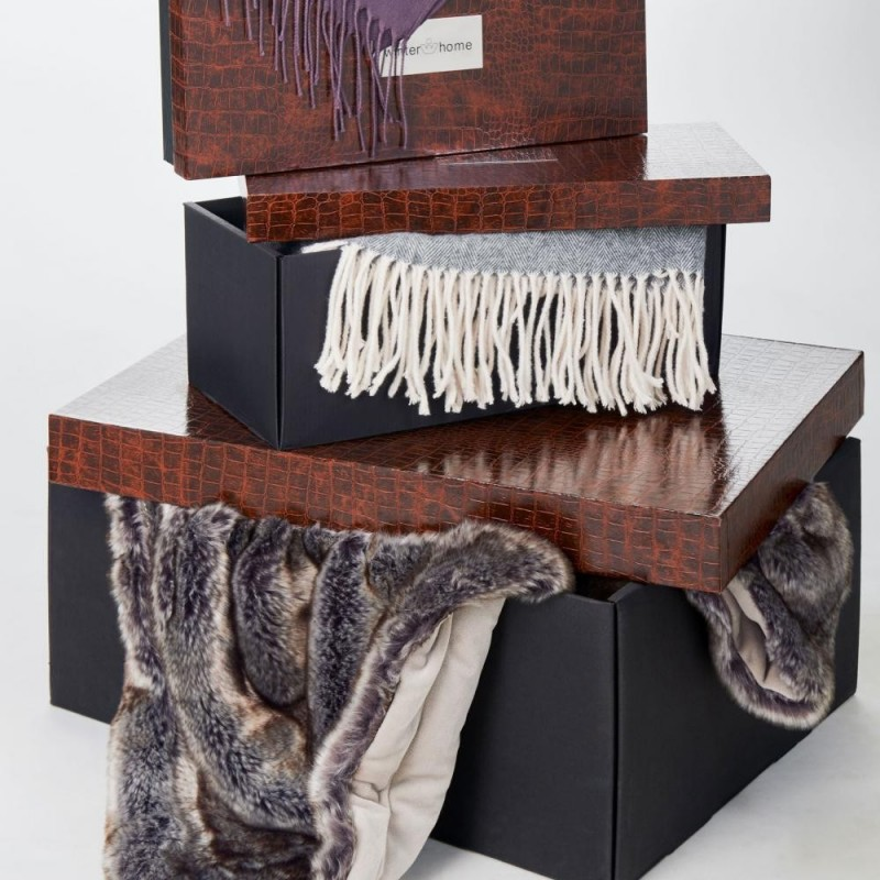 Winter Home Fellimitat Teppich Yukonwolf ca. 70x150 cm Braun