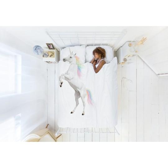 Snurk Kinderbettwäsche Garnitur EINHORN 160x210+65x100 cm