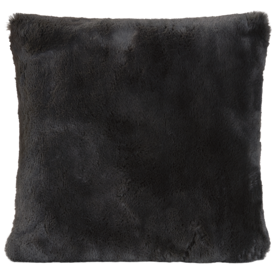 Winter Home Kissen Fellimitat Guanaco anthracite 45x45 cm und 60x60cm