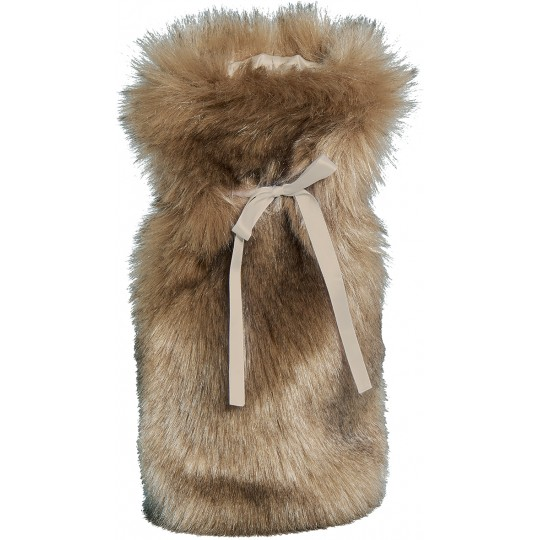 Winter Home Fellimitat Geschenk-Beutel SAVANNAWOLF 30cm