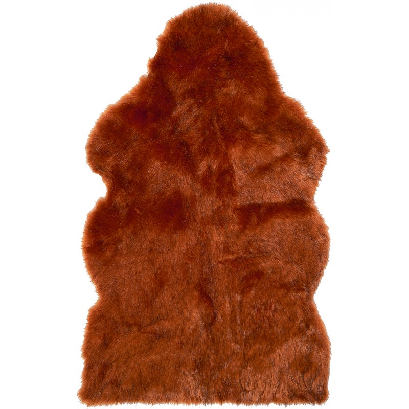 Winter Home Fellimitat Geschenk-Beutel Sunset Wolf 30cm Orange