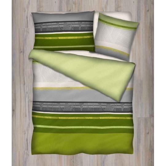 Bettwäsche Renforcé YAEL orange oder grün