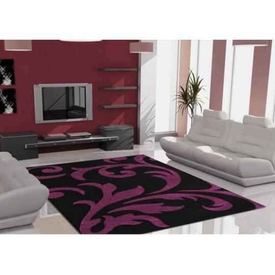 Lalee Teppich Lambada schwarz/violett 80x150 cm