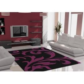 Lalee Teppich Lambada schwarz/violett 80x300 cm