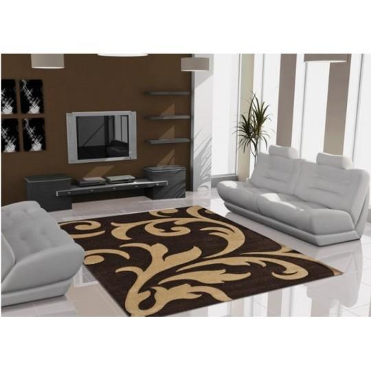 Lalee Teppich Lambada mocca/beige 80x150 cm