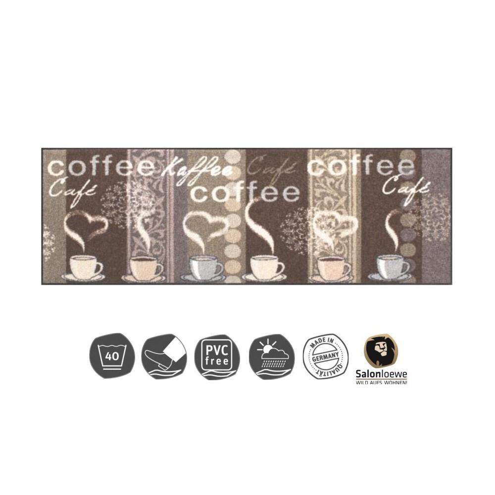 design fussmatte kaffeehaus 60x180 cm bestellen sie online. Black Bedroom Furniture Sets. Home Design Ideas