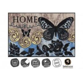 Design Fussmatte Papillon Bleu 50x75 cm