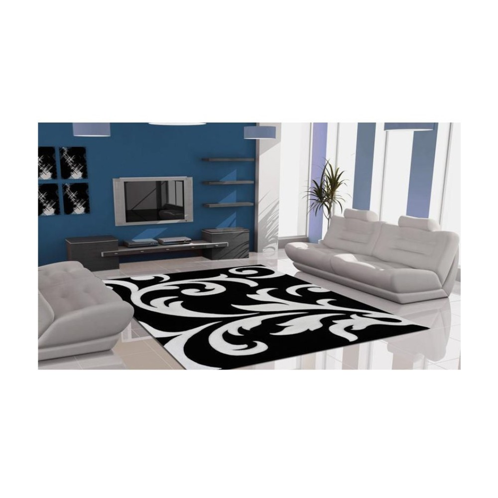 lalee teppich lambada schwarz weiss 80x150 cm. Black Bedroom Furniture Sets. Home Design Ideas