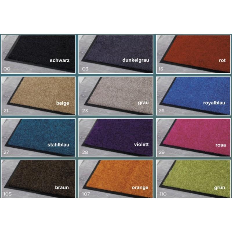 Fussmatte Uni Wasch Clean 60x180 cm