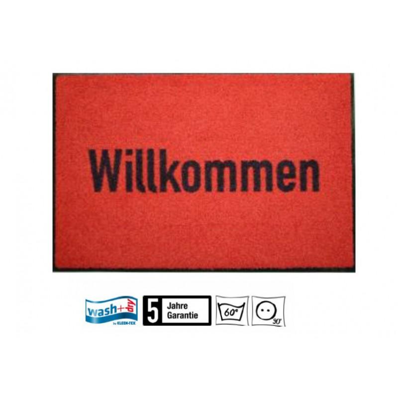 Fussmatte Willkommen Wasch+dry 50x75 cm