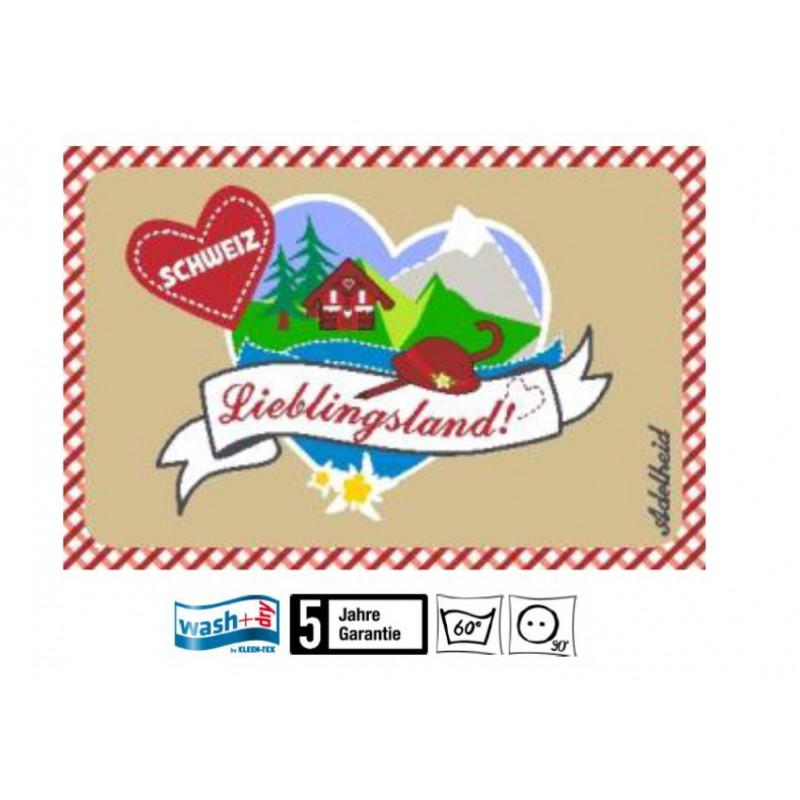 Fussmatte Adelheid Schweiz Wasch+dry 50x75 cm