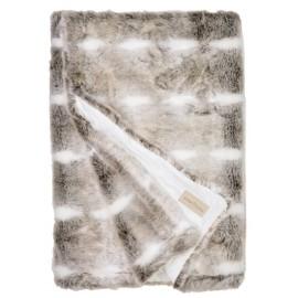 Winter Home Decke Fellimitat Snow Rabbit 140x200 cm - Luxus Geschenk