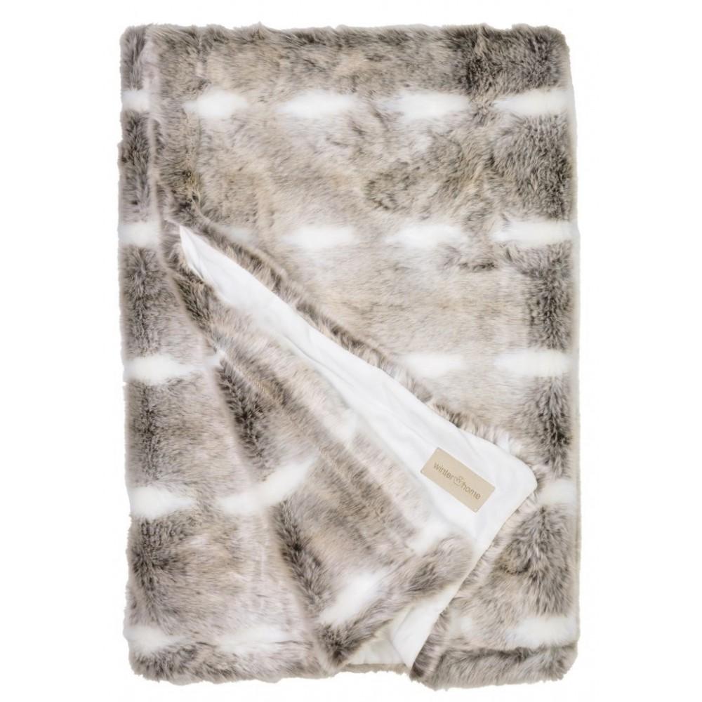 winter home decke fellimitat snow rabbit 140x200 cm. Black Bedroom Furniture Sets. Home Design Ideas
