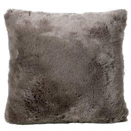 Winter Home Kissen Fellimitat Seal Taupe ca. 45x45 cm