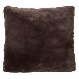 Winter Home Kissen Fellimitat Seal Chocolate ca. 45x45 cm