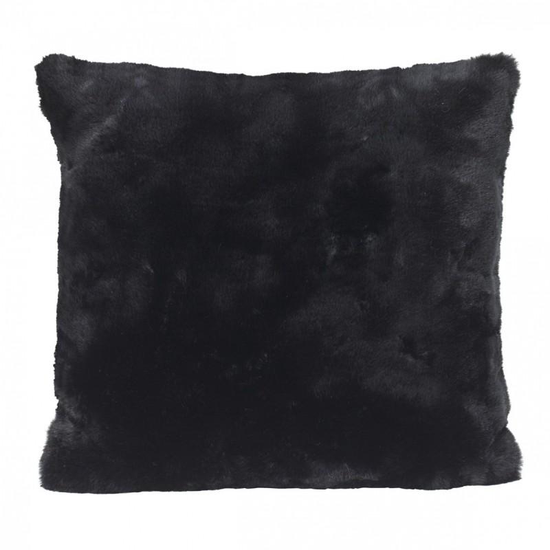 Kissen Fellimitat Seal Black ca. 45x45 cm