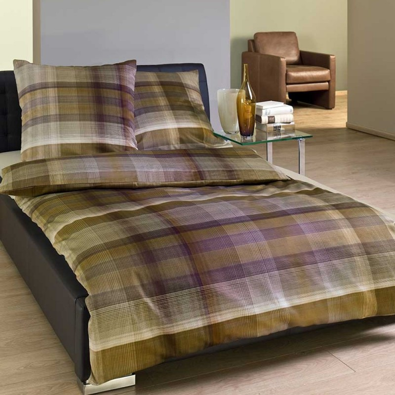 bugatti satin bettw sche braun rustikale look in natur farben. Black Bedroom Furniture Sets. Home Design Ideas