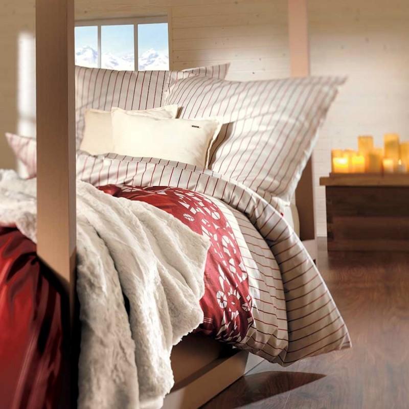 Soliver Landhaus Bettwäsche Satin Creme Mit Streifen Muster