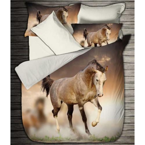 Bettwäsche Satin Digitaldruck Free Horse