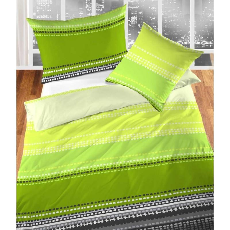 Cretonne Bettwäsche Garnitur Desire grün