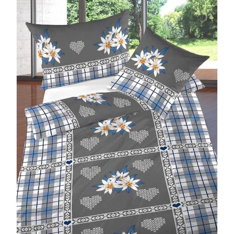 landhaus bettw sche renforc heidi grau blau kariert. Black Bedroom Furniture Sets. Home Design Ideas