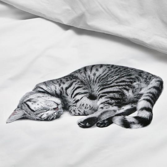 Bettwäsche-Garnitur Snurk Katze Ollie 160x210+65x100 cm