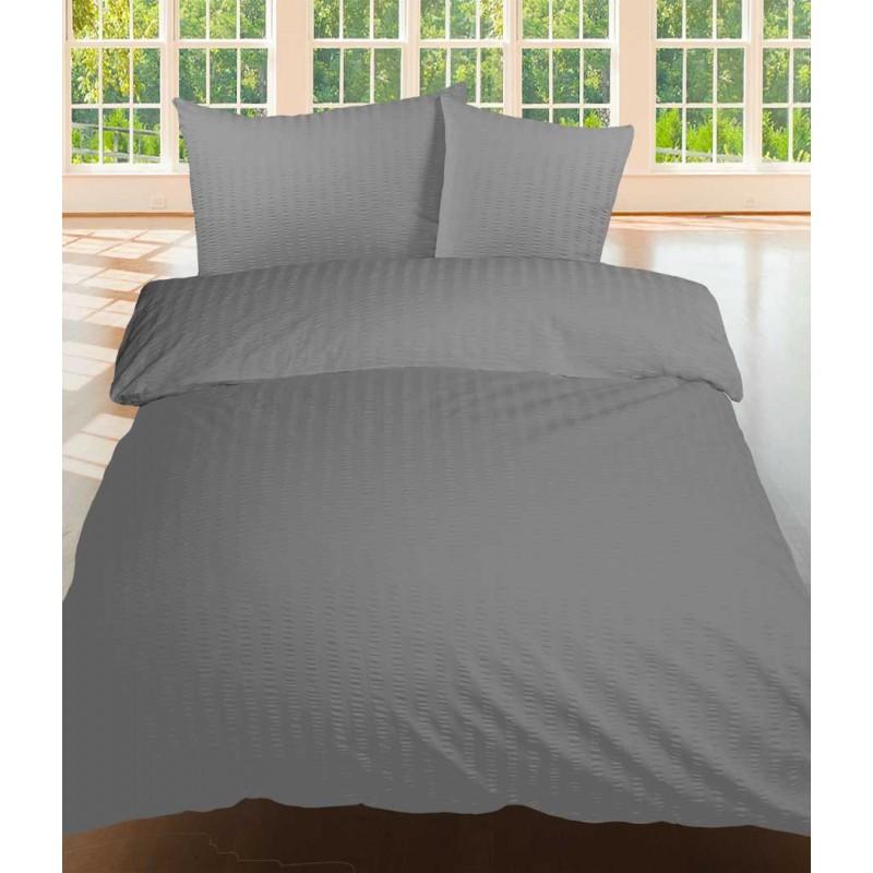 bettw sche duvetbezug satin seersucker uni 160x210 cm in bordeaux weiss schwarz blau gelb. Black Bedroom Furniture Sets. Home Design Ideas