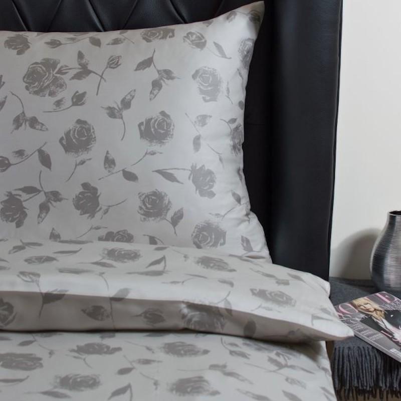 hefel luxus bettw sche rosenmuster aus tencel satin. Black Bedroom Furniture Sets. Home Design Ideas