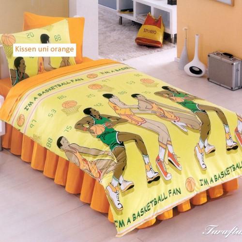 Kinderbettwäsche Garnitur Acolori Basketball 135x170+65x100 cm