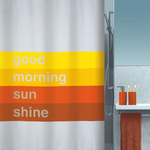 Spirella Textil Duschvorhang Good Morning 180x200 cm