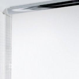 Spirella Plastik Duschvorhang Rolo Twill 140x240 cm weiss streifen