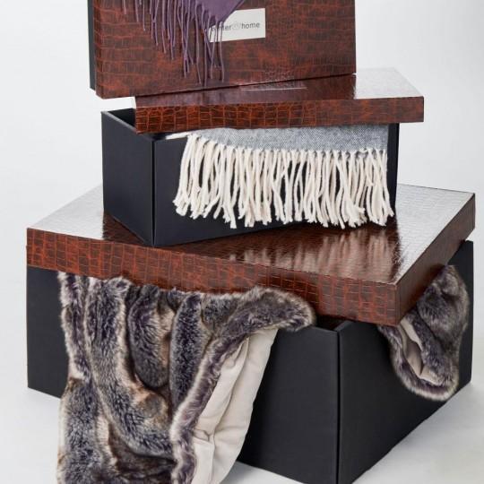 Winter Home Decke Fellimitat Serval 140x200 cm - Luxus Geschenk