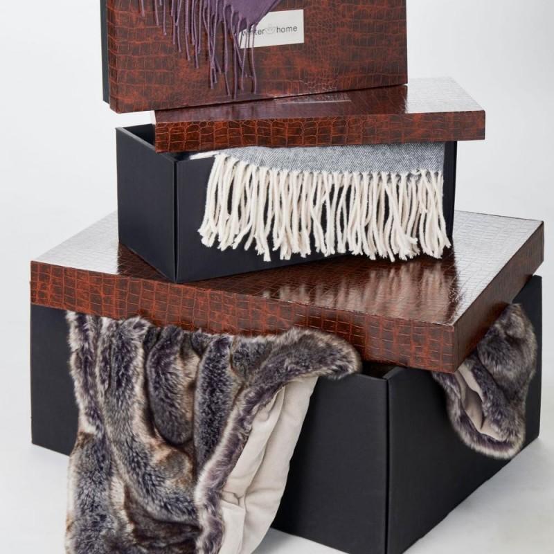 Winter Home Decke Fellimitat Fox 140x200 cm - Luxus Geschenk