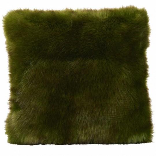 Winter Home Kissen Fellimitat Greenwolf 45x45 cm