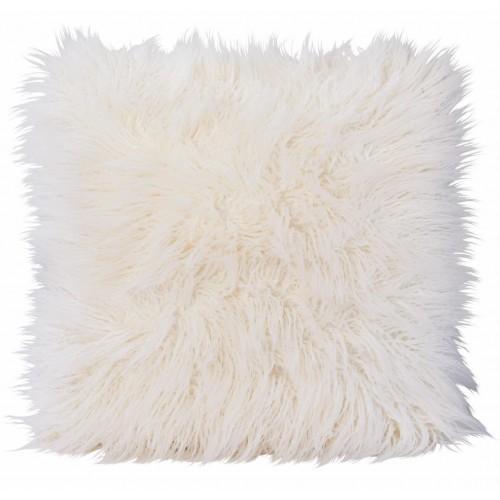 Winter Home Kissen Fellimitat Curlywhite 45x45 cm