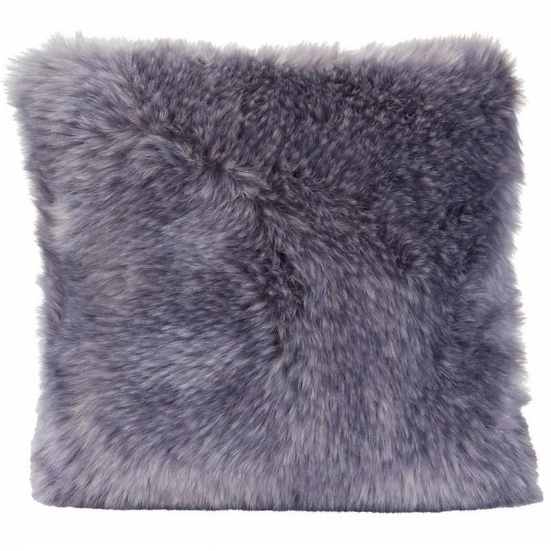 Winter Home Kissen Fellimitat Purplewolf 45x45 cm
