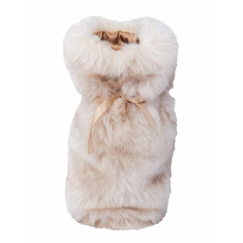 Winter Home Fellimitat Geschenk-Beutel Sandwolf 30cm beige