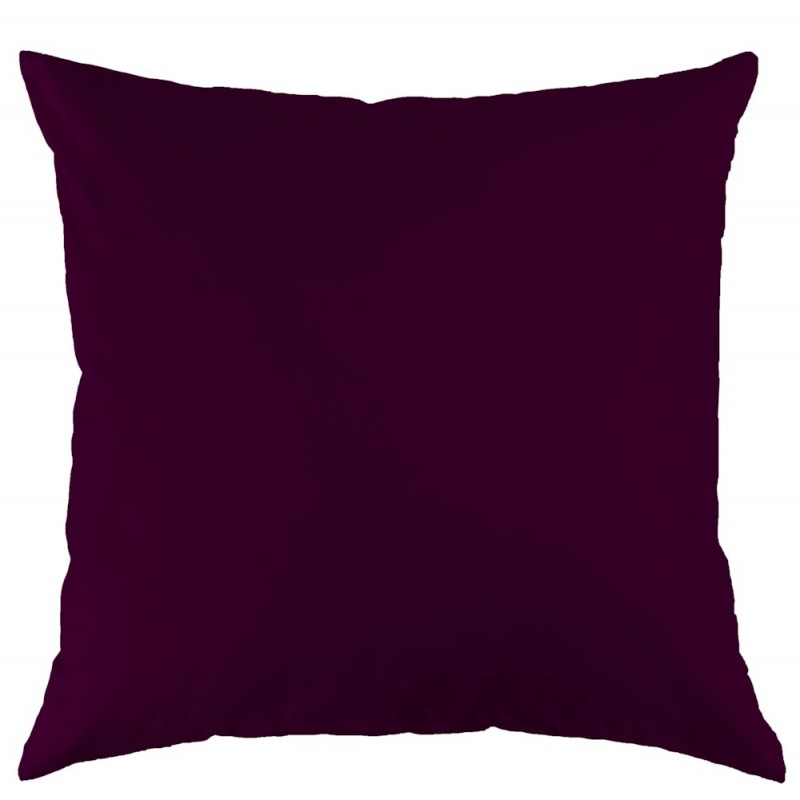 Tamara R Satin Bettwäsche Uni High Speed aubergine