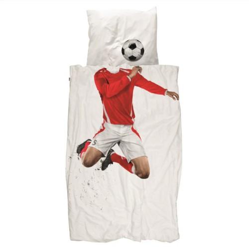 Snurk Jugendbettwäsche Fussball 160x210+65x100 cm