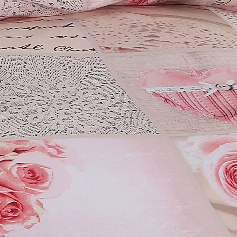 AColori Satin Bettwäsche Garnitur Rosita mit rosen motiv
