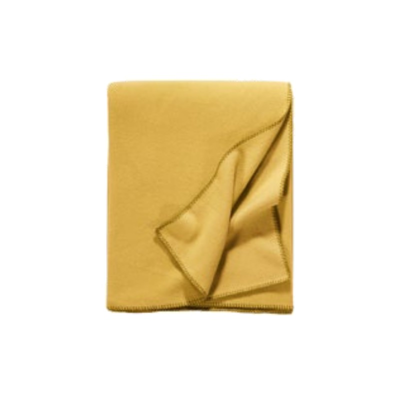 Fleece Decke Tony 160x200 cm curry