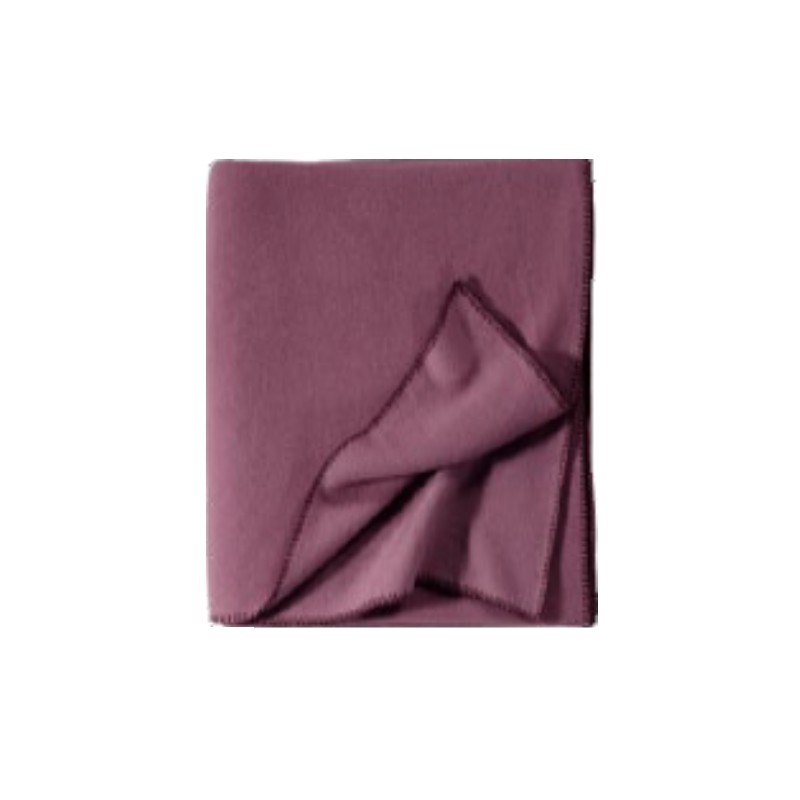 Fleece Decke Tony 160x200 cm brombeere