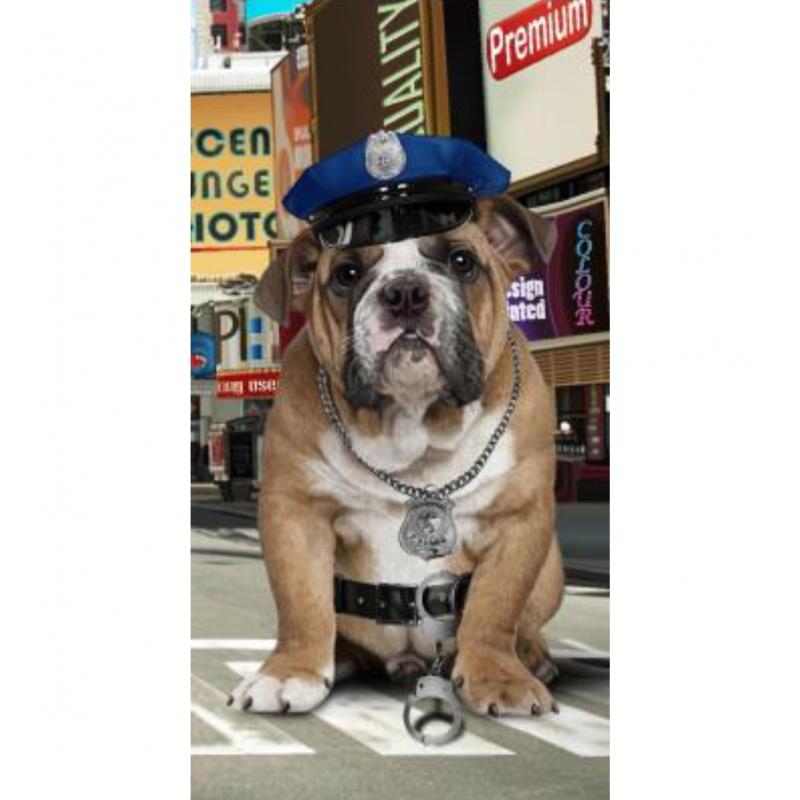 Strandtuch Polizeihund 76x152 cm