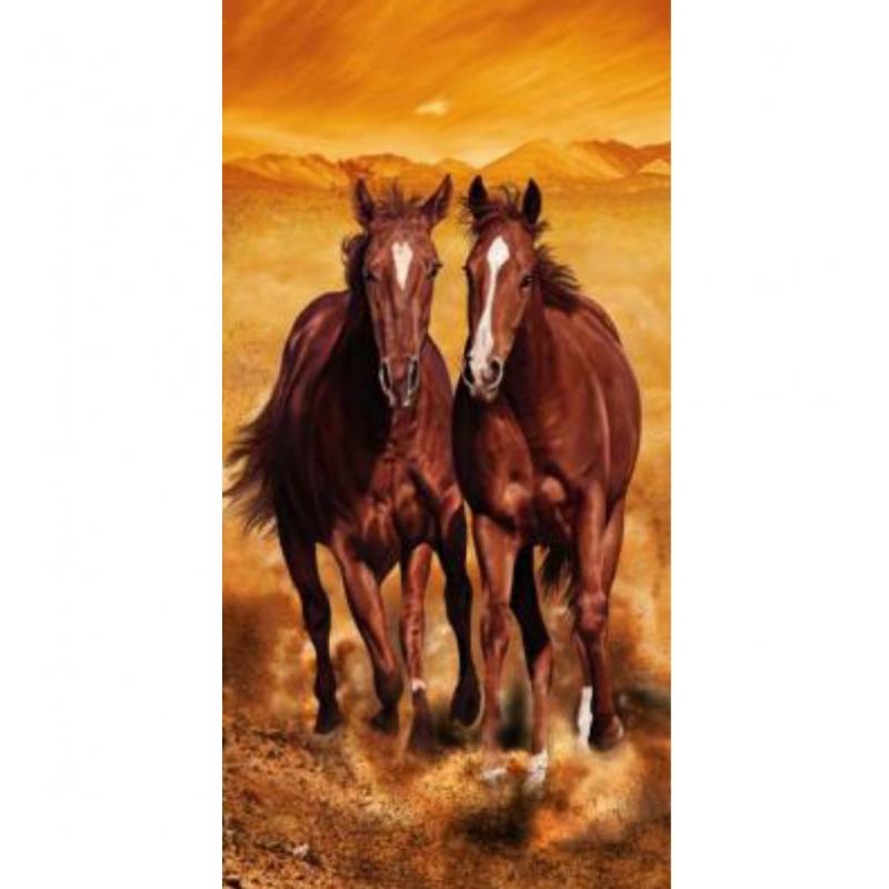 strandtuch mit arizona horses motiv 76x152 cm top preis. Black Bedroom Furniture Sets. Home Design Ideas