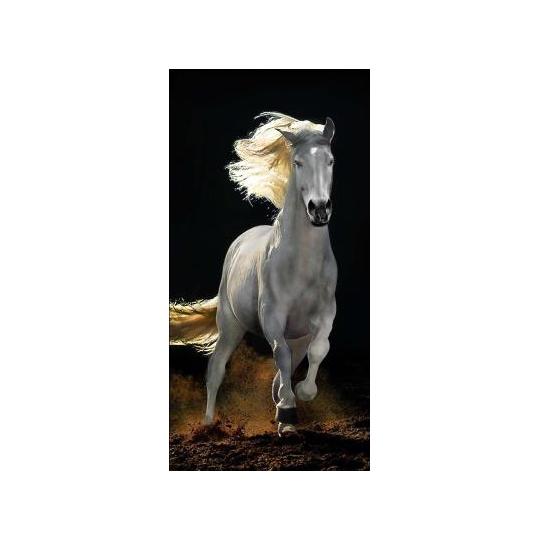Strandtuch Pferd Weiss 76x152 cm