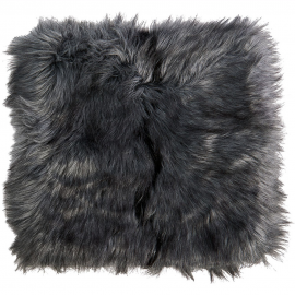 Winter Home Fellimitat Sitzpolster Tamaskanwolf Grau 40x40 cm