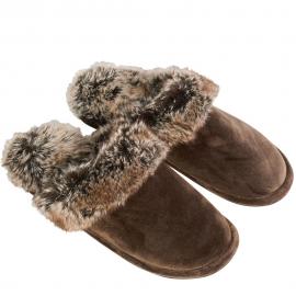 Winter Home kuschelige Pantoffeln Yukonwolf Braun